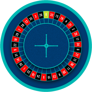 The European roulette wheel has only 36 pockets and one green 0