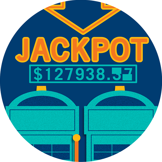 Sign showing growing jackpot