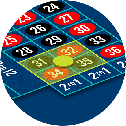 The cornerbet at intersection of 4 numbers.