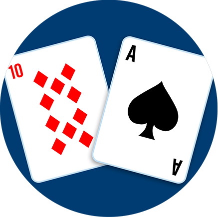 A ten of diamonds and an Ace of spades