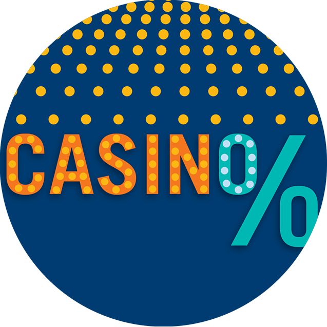 The word casino next to a percentage symbol