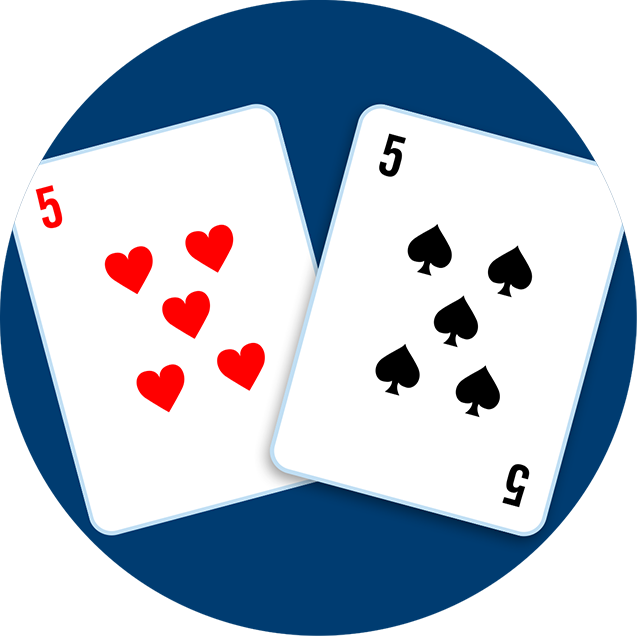 A five of hearts and a 5 of spades.