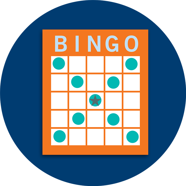 A Bingo card pattern showing a large letter X.