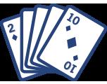 Cartes numérotées de 2 à 10.