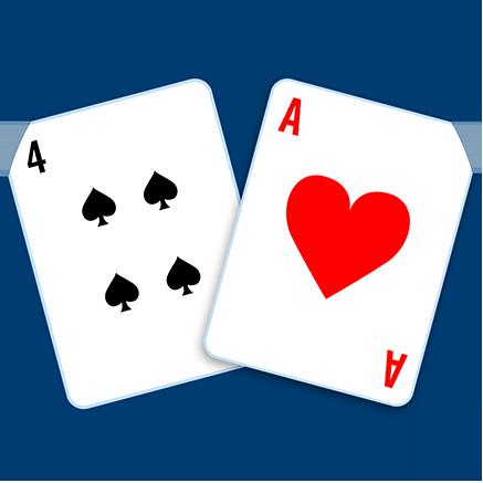 main composée de deux cartes dont l'une est un as.