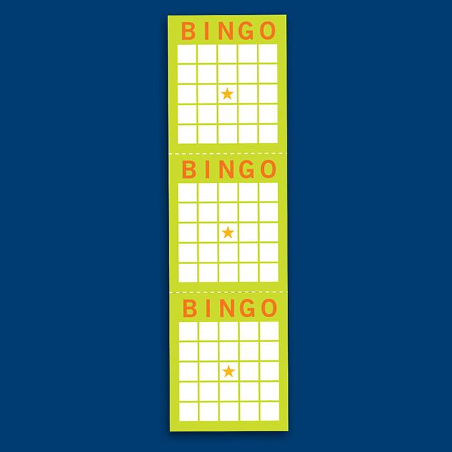 Bande de trois cartes de bingo