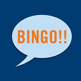 """一个对话泡里写着""""Bingo!!"""""""