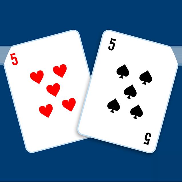 一張红心5和一張黑桃5