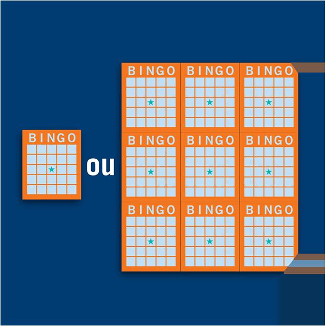 Carte de bingo individuelle et livret à 9 cartes de bingo