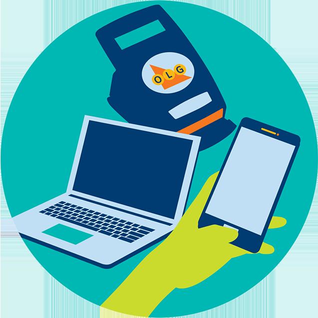 檢查彩票的二種方式: OLG檢碼機或您的手機應用程式