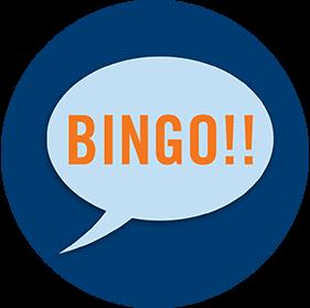Le mot « Bingo!! » apparaît dans une bulle de dialogue.
