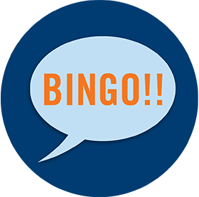 一个对话泡显示着Bingo