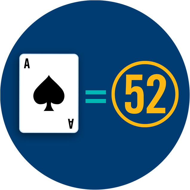 ace card equals 52