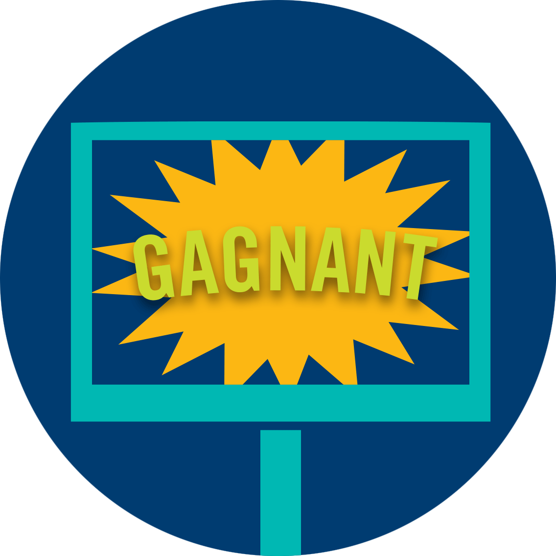 Écran affichant «GAGNANT»