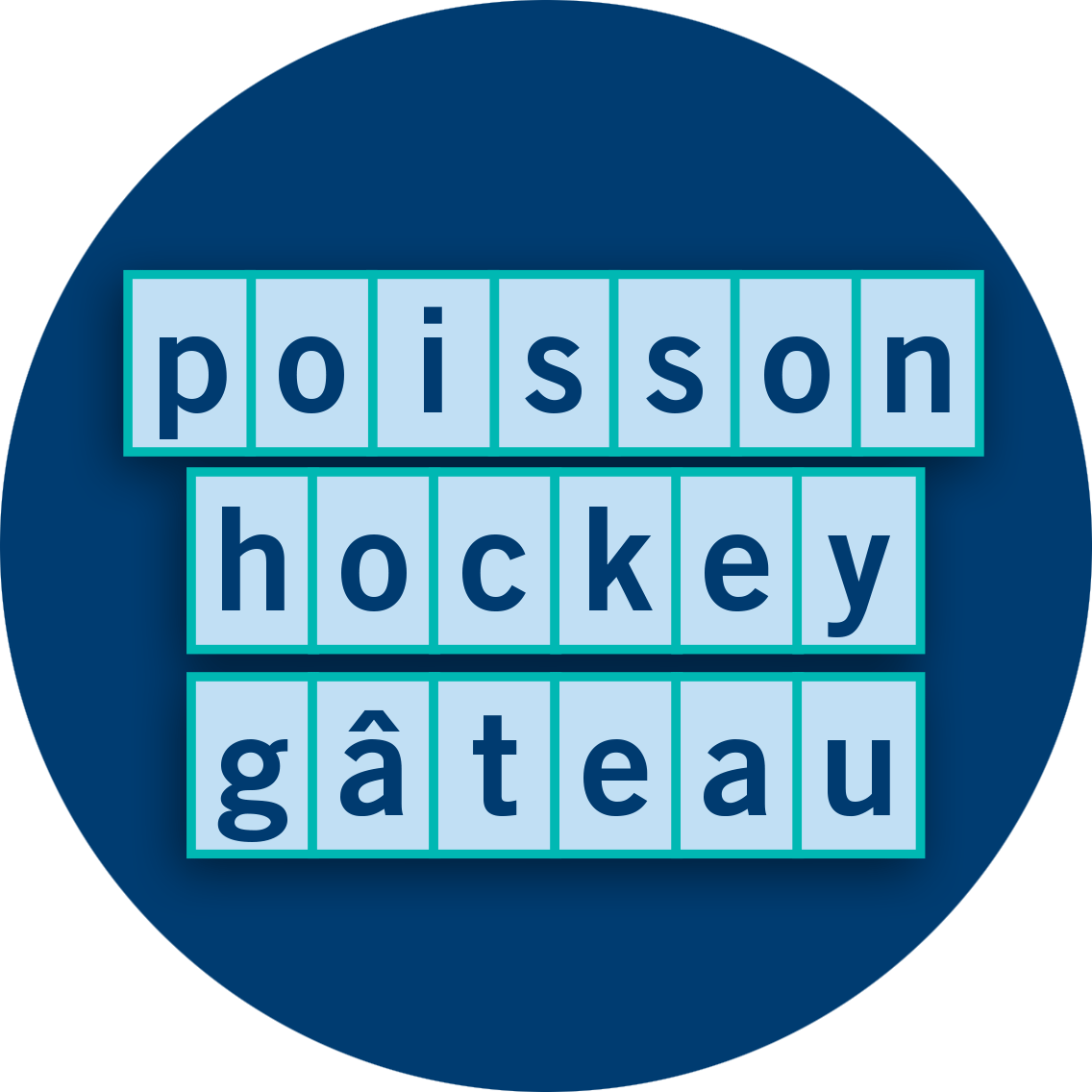 Poisson hockey gâteau