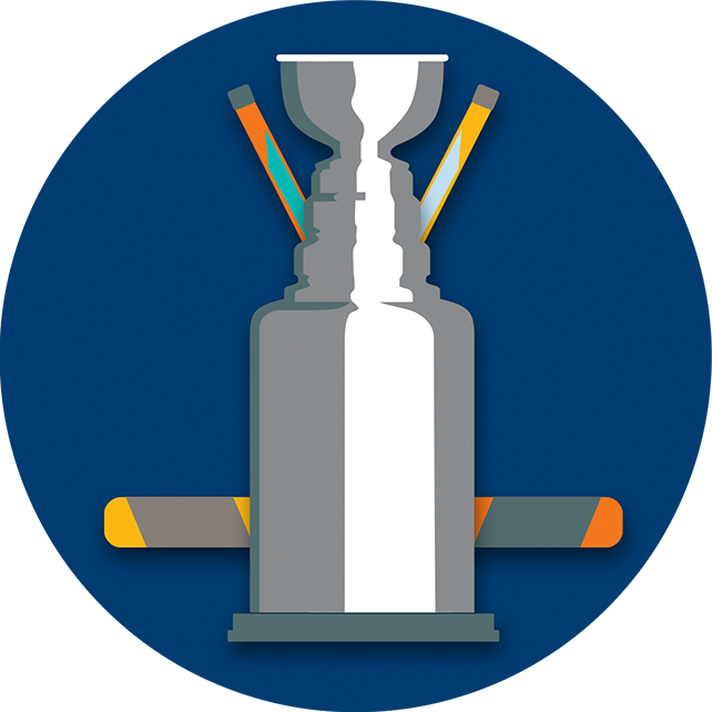 A trophy resembling the Stanley Cup