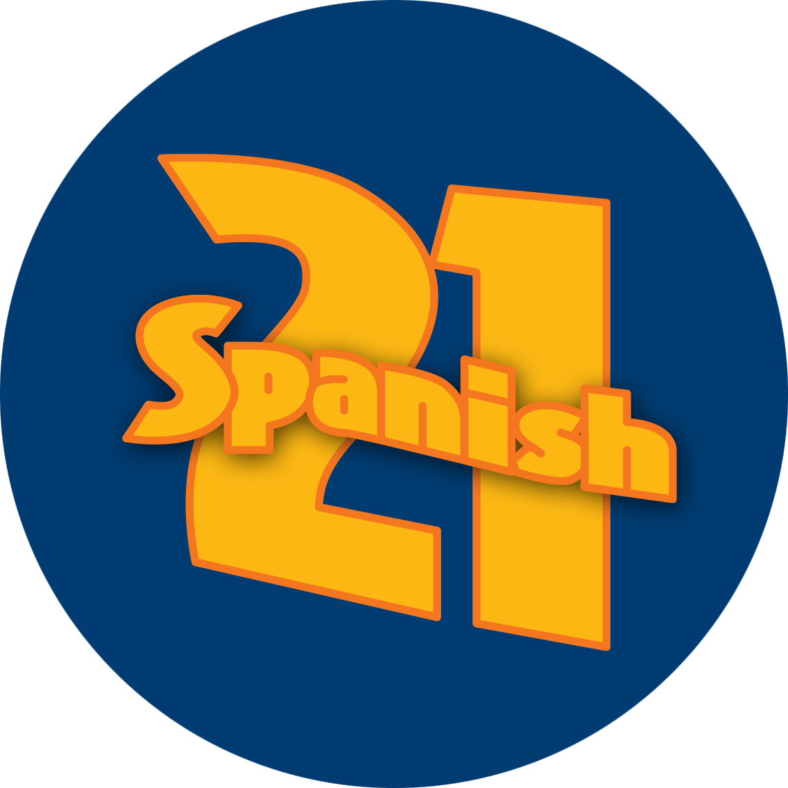 Spanish written across 21.