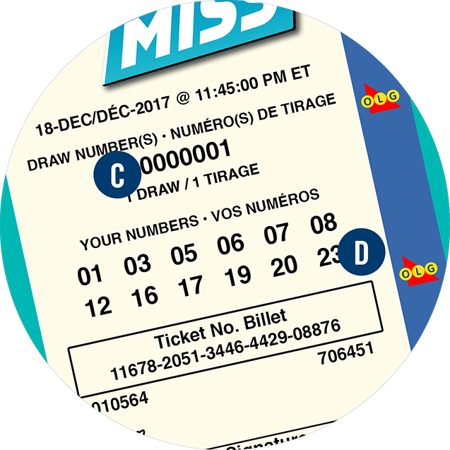 A Hit or Miss ticket is shown with the letters C and D.