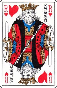 Roi de cœur d'un paquet français représenté par « Charles ».