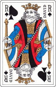 Roi de pique d'un paquet français représenté par « David ».
