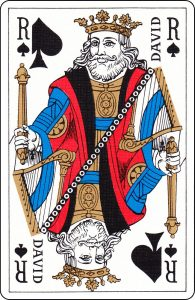 "A French King of Spades with ""David"" on it."