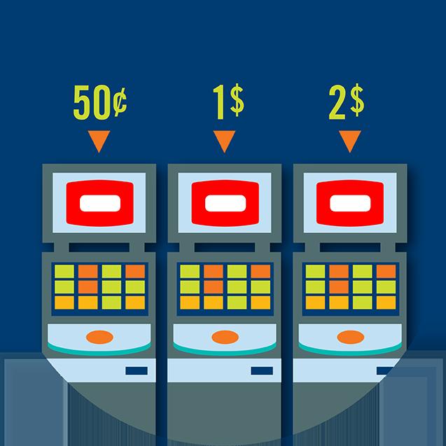 Trois machines TapTix; au-dessus de chacune, il y a un montant en argent: 0,50 $, 1 $ et 2 $.