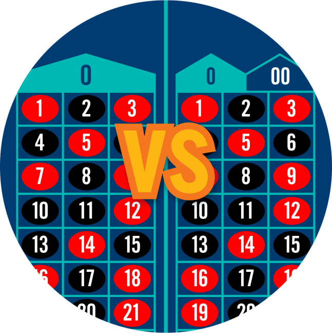 Two roulette tables with versus written between both