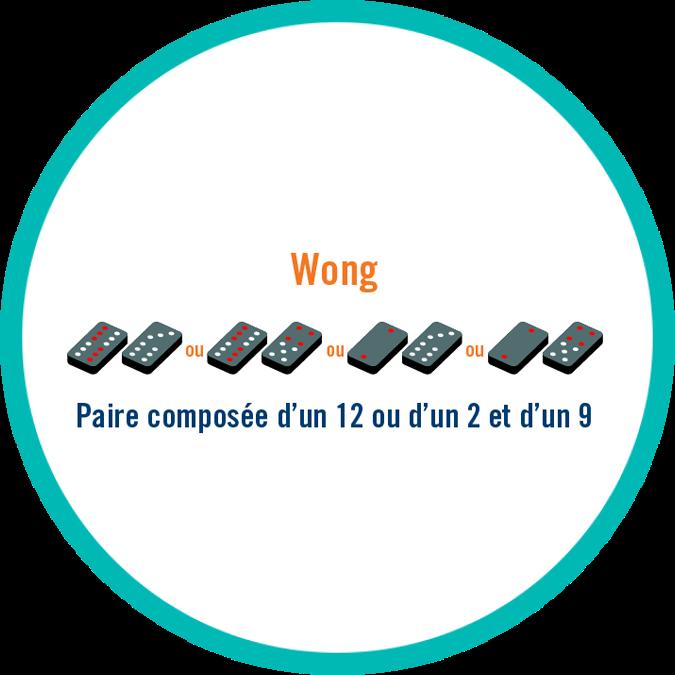 Une paire de tuiles composée soit d'un 12 et d'un 9 ou d'un 2 et d'un 9.