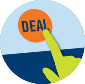 A deal button.