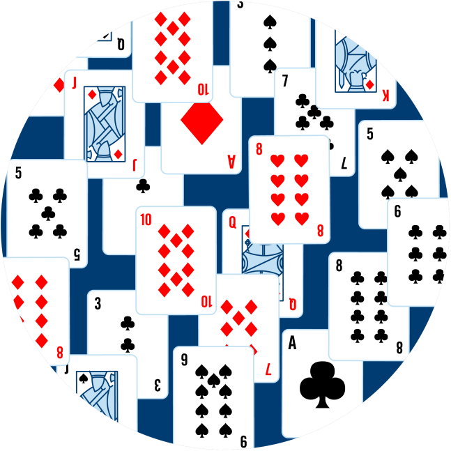 An image is filled up with scrambled cards.