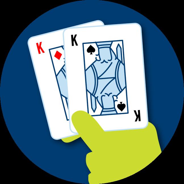 一副由方塊K和黑桃K組成的對牌。