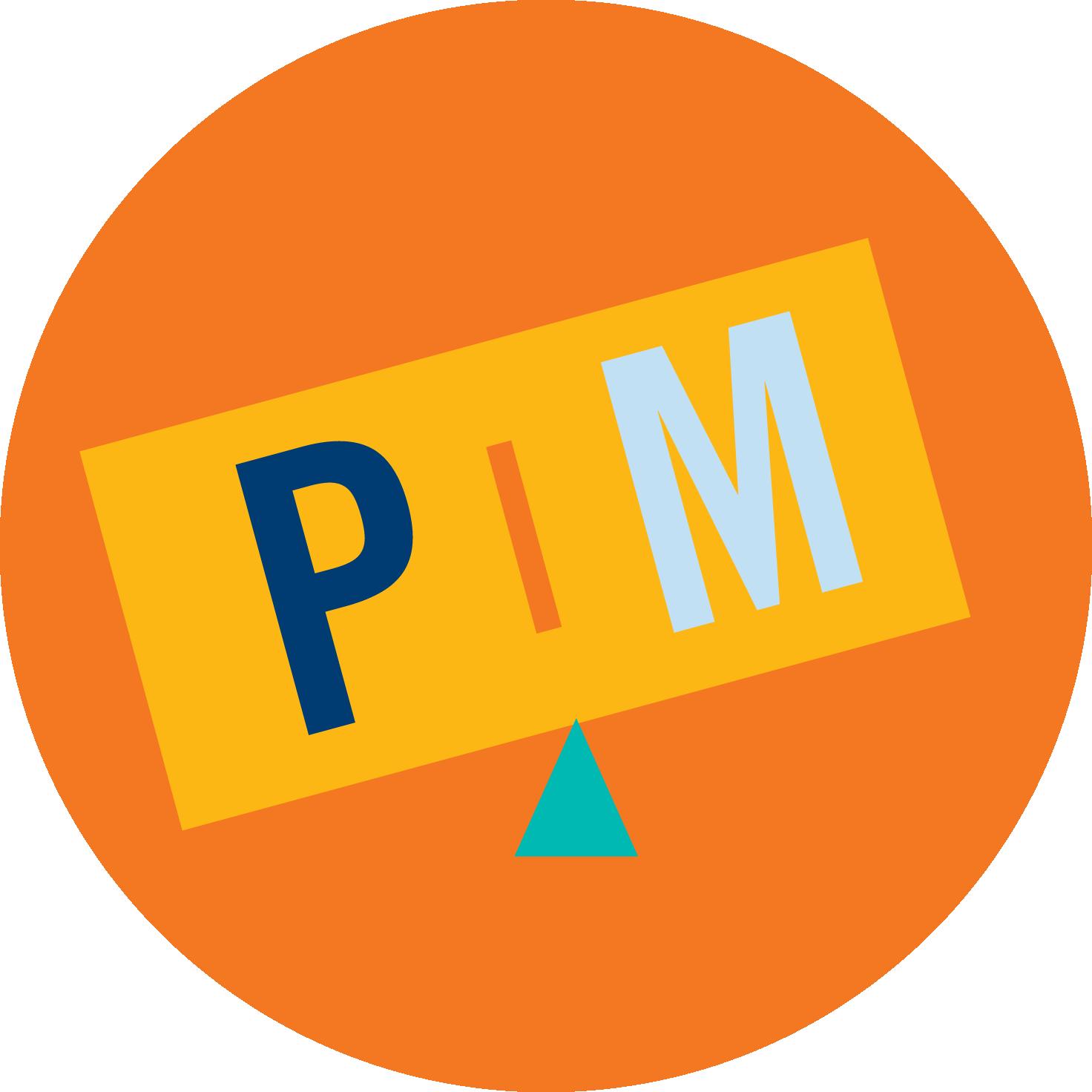 Une balance à plateaux en déséquilibre où la lettre « P » pèse plus que la lettre « M ».